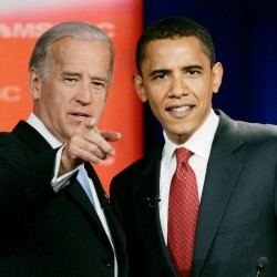Obama introduces running mate Biden