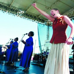 Gospel group engulfs the crowd in the spirit