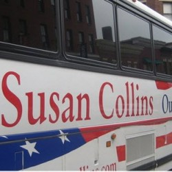 Sen. Collins launches campaign bus tour