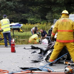 4 hurt in accident on Route 6 in Lee