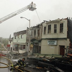 Fire sweeps through downtown Milo