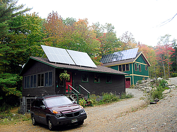 Two arrays of solar panels sit atop the buildings at Williams Pond Lodge, a Bucksport bed and breakfast that was part of the annual Maine Solar Tour Saturday. The statewide event opened 71 solar homes and businesses to the public as a way to promote solar power in Maine.  Buy Photo