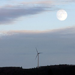 Wind farms lying fallow in hard times