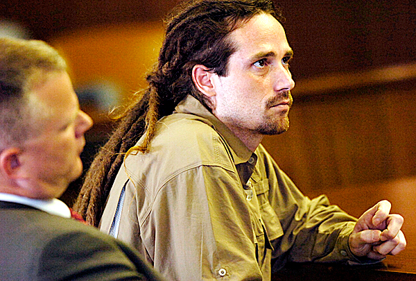 Jeremy Hart, right, appears in Penobscot Superior Court in Bangor on Wednesday, October 15, 2008 during a plea agreement that allowed Hart to plead guilty to a charge of manslaughter in the shooting death of his wife Kristen Smart Hart during a party at their  Lagrange home in November, 2007. With Hart is his attorney Stephen Smith of Bangor.  Buy Photo