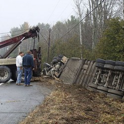 Driver falls asleep at wheel, hits tractor-trailer in Milo