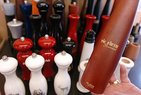 Vic Firth gourmet pepper mills are also produced at the Newport drumstick factory.