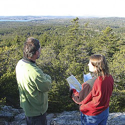 Group reviewing feedback on Schoodic ecoresort plan