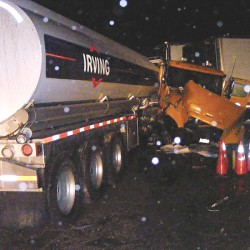2 hurt when pickup, tanker collide in Montville