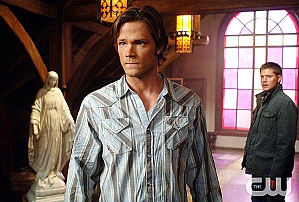 Jared Padalecki (left) and Jensen Ackles play monster-hunting brothers on the CW's popular 'Supernatural.'  The third season of the show is newly available on Blu-ray for home viewing.