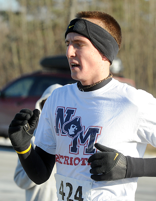 Riley Masters was the first man finisher of the 2008 Turkey Trott in Brewer on Sunday.