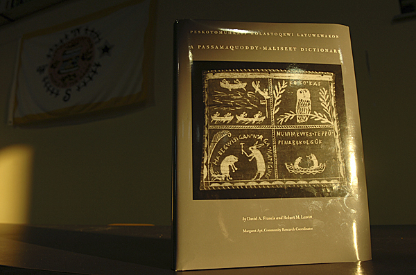 A Passamaquoddy-Maliseet Dictionary more than 30 years in the making was released Monday, Dec. 8, 2008 at Pleasant Point. The 1214-page book is the first modern dictionary of the language and was written by David A. Francis and Robert M. Leavitt. &quotFor me, this is a dictionary you can read like a book,&quot said co-author Robert Leavitt. &quotIt gives you a good sense of the culture and how important the language is to the culture.&quot  Buy Photo