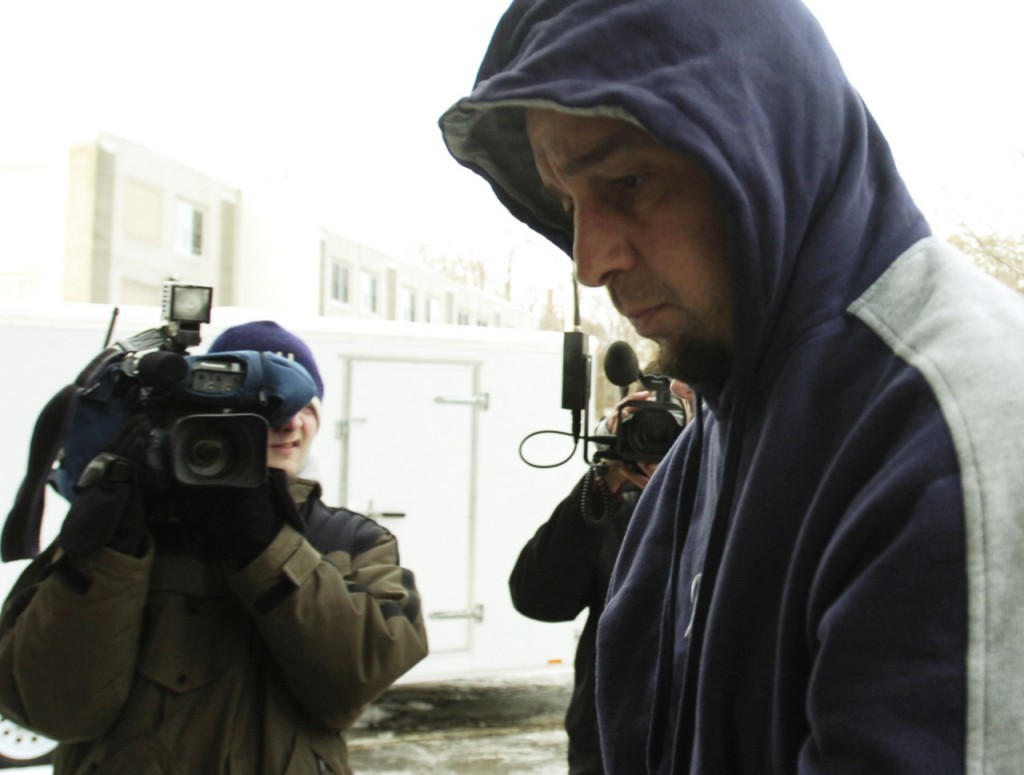 Derwin Springer Jr. is led into Penobscot County jail in Bangor on Friday, December 19, 2008. Springer is being charged with gross sexual assault and burglary in connection with the rape of a Passadumkeag woman.