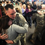 Hundreds greet Maine soldiers at BIA