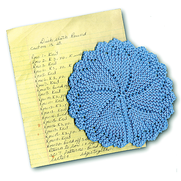 With A Little Faith Round Dishcloth Knits Up Quick By Hand