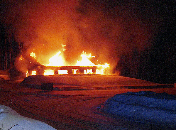 Fire destroys potato packing facility in New Sweden