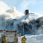 Patten fire destroys former school
