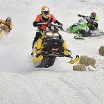 Snow abundant for snowmobile races in Lincoln this weekend