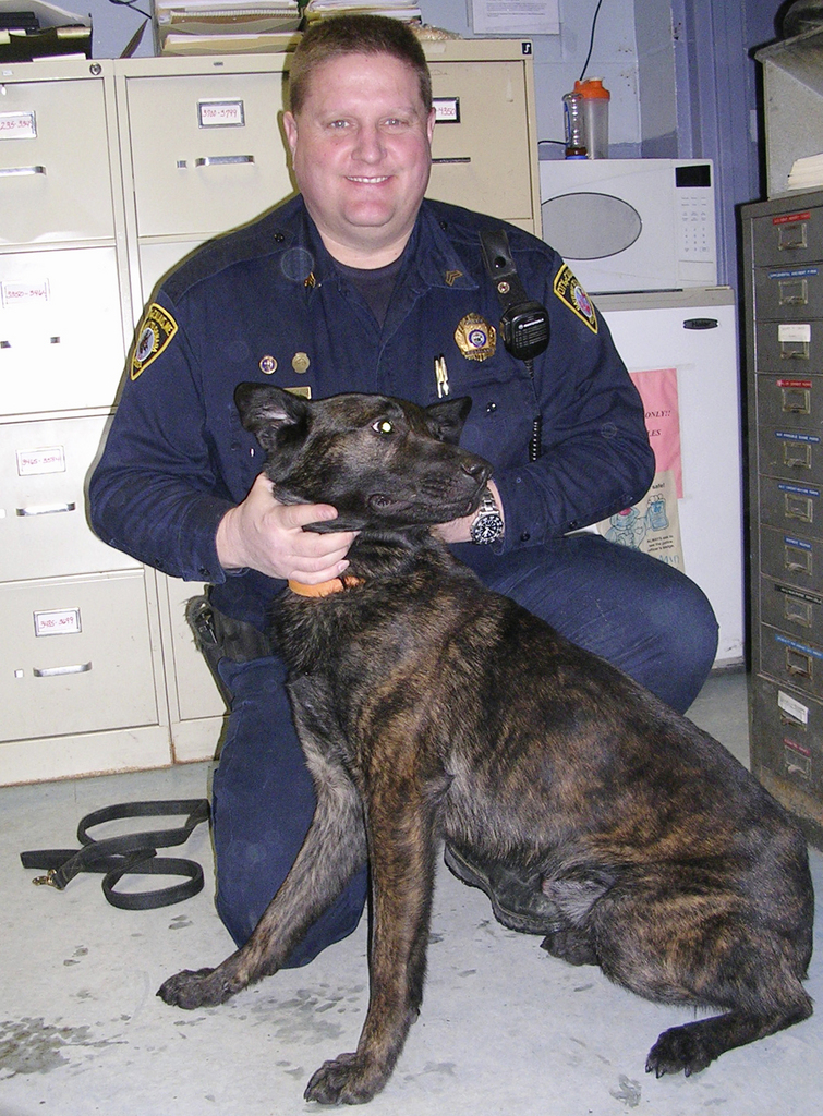 The Calais Police Department has a new member. Spike, a Dutch shepherd from Holland, and his handler, Sgt. Chris Donahue are expected to begin training soon. Once trained, Spike will join Donahue on patrol.  Buy Photo