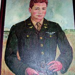 Library receives portrait of aviator with Houlton ties