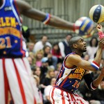 Globetrotters' stunts, humor entertain fans