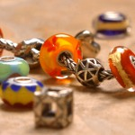 When raindrops fall, you can be indoors stringing clay beads for colorful bracelet