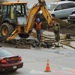 Broken water pipe on Main Street ties up weekend crews in Bangor