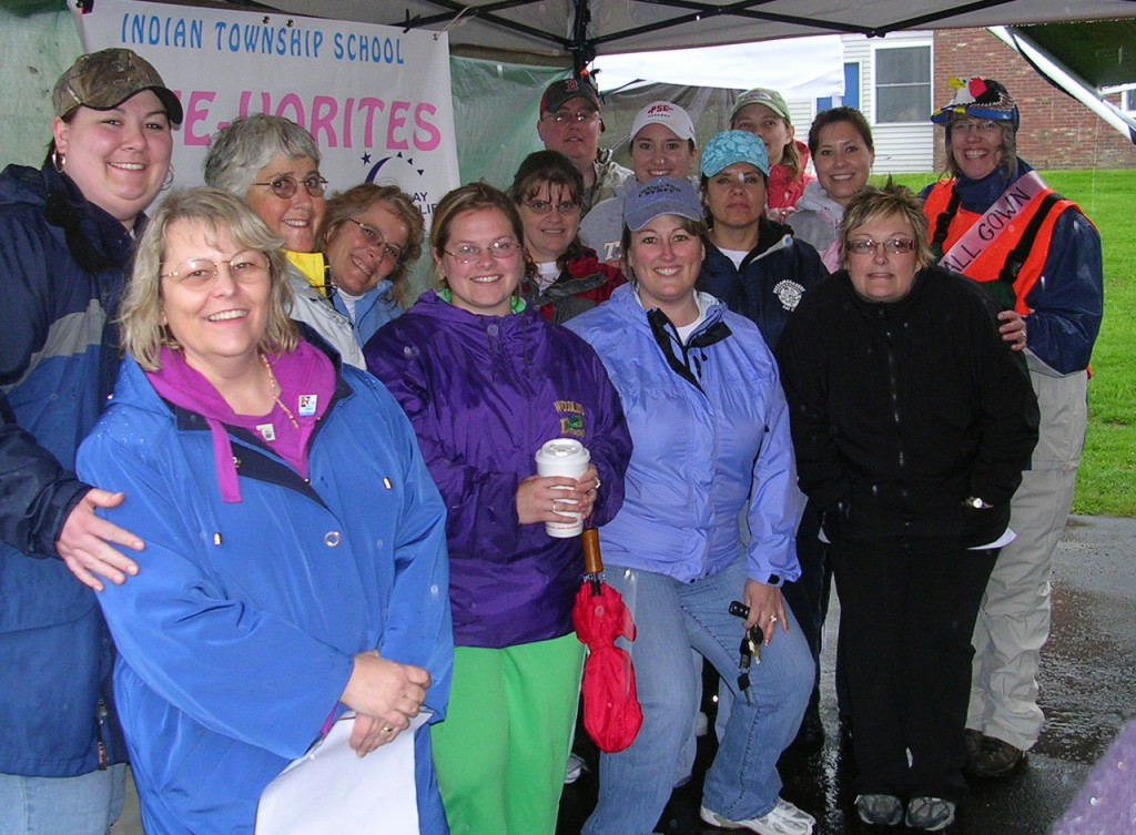 People from all over Washington County participated Friday in the fifth annual Relay for Life at Washington County Community College in Calais. Armed with rainwear, they spend the night in support of all those who have either survived or lost their battle with cancer.
