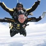 Former President George H.W. Bush makes 90th birthday skydive in Kennebunkport