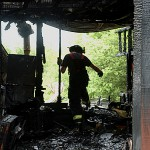 Fast fire burns out Garland family