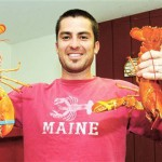 Rare orange lobsters show up at Maine shops