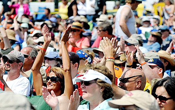 People enjoy the music at the 16th annual North Atlantic Blues Festival in Rockland Saturday.  Thousands of visitors came to Harbor Park to listen to blues and enjoy the festival food. Buy Photo