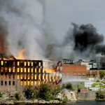 Fire engulfs mill in Lewiston