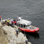 Rock climber listed in fair condition after fall at Camden cliff