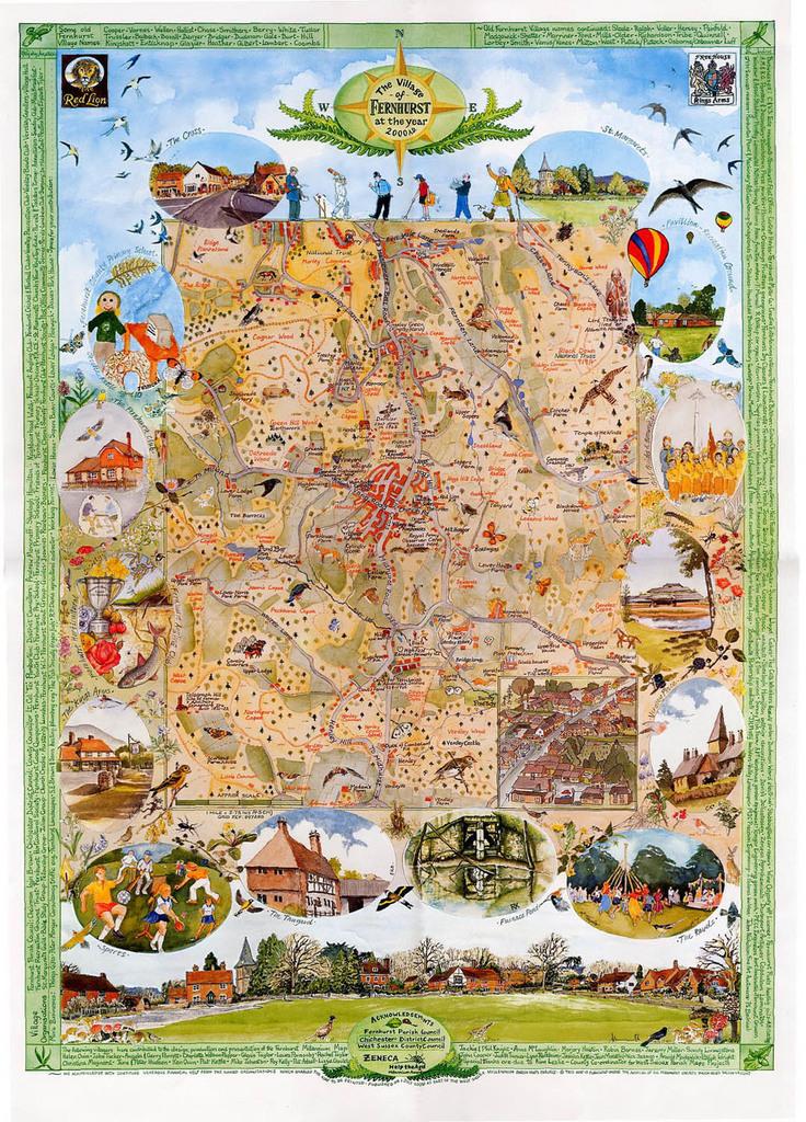 Fernhurts parish map.  (Courtesy of Tides Institute)
