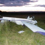 Victim of plane crash in critical condition