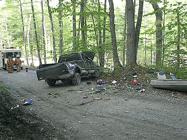 Shirley accident. (photo: courtesy of Piscataquis County Sheriffs Dept.)