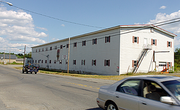 The property where the former Ox Yoke building sits on Main Street in Milo may be transformed into a greenhouse by a man from out-of-state. Photographed Wednesday, Aug. 19, 2009. (Bangor Daily News/Bridget Brown)