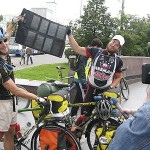 Steppe provides tough challenge for two cyclists
