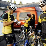 Spokes for Hope team toasts end of 400-mile trek