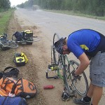 Cyclists finish Russian leg of trip after freezing night in Kursk jail