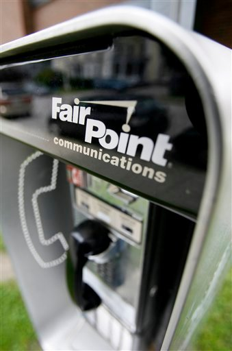 FILE - In this Tuesday, July 14, 2009 file photo, a FairPoint Communications phone is seen in Montpelier, Vt. The Charlotte, N.C.-based company, which took over land line phone and Internet service for Vermont, New Hampshire and Maine from Verizon Communications in February, has a deadline of Thursday Sept. 10, 2009 to tell Vermont regulators in writing why they should not revoke its license to operate in the state.  (AP Photo/Toby Talbot, File)