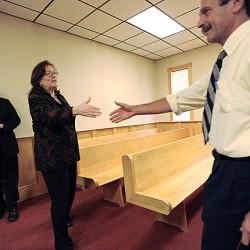 Maine chief justice visits Machias courthouse