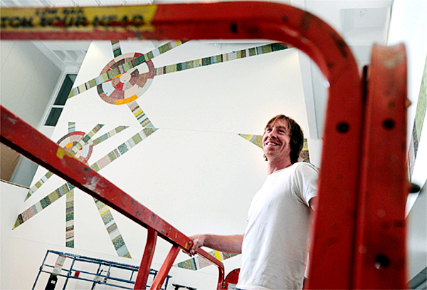 Joe Kievitt  (PORTLAND ARTIST)  (BANGOR DAILY NEWS PHOTO BY JOHN CLARKE RUSS)