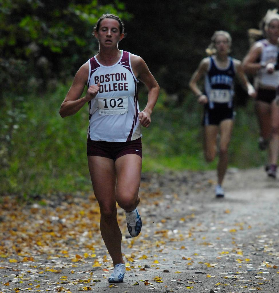 Women's race winner from Boston Colllege.  Bangor Daily NEws/Michael C. York