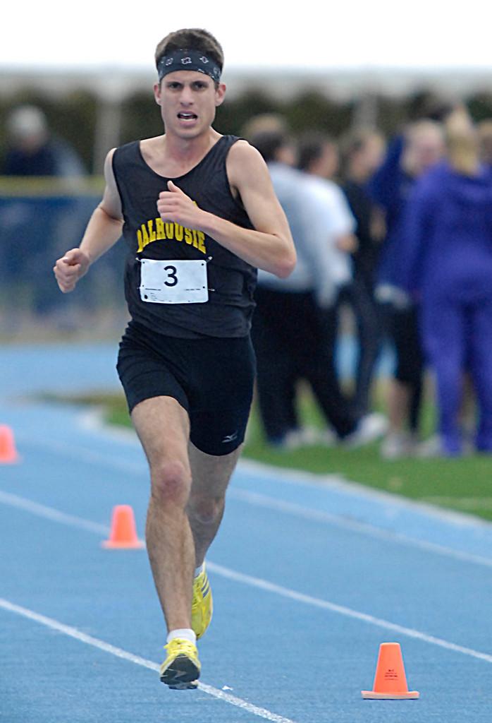Men's race winner Russell Christie, Dalhousie University, Saturday, Oct. 2009. Bangor Daily NEws/Michael C. York