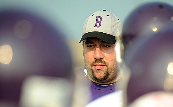 (BANGOR DAILY NEWS PHOTO BY GABOR DEGRE)CAPTIONJohnn Bapst High School football head coach Dan O'Connell. (Bangor Daily News/Gabor Degre)