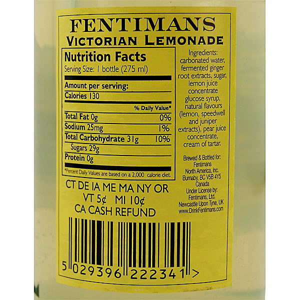 Fentimans Victorian Lemonade. LYNDS STORY. photo from kegworks.com