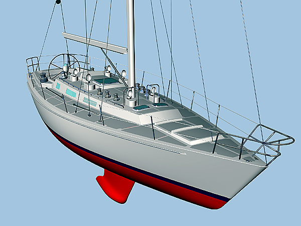 Morris Yachts has been chosen to build four of the 44-foot Leadership 44 sailing training vessels for the U.S. Coast Guard Academy.(Courtesy of Morris Yachts)