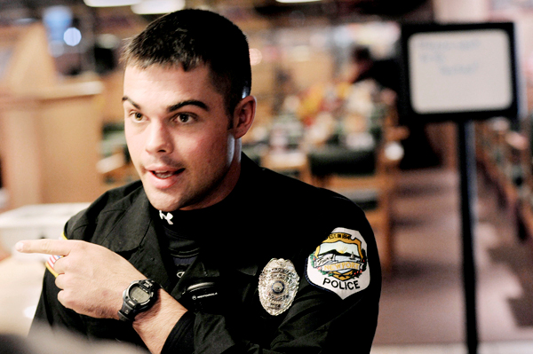 The Newport Big Stop was the site of Perley Goodrich Jr.'s arrest early Friday morning October 30, 2009 after he stopped there for a cup of coffee. Rookie Newport Police Officer Stephen Morrell (pictured) and Newport Police Corporal Allen Graves were the first officers on the scene and took Goodriich into custody shortly before handing him to state police just after 1 a.m. Friday.  The arrest ends a four-day manhunt for Goodrich who is wanted for questioning following the Monday night murder of his father and severe beating of his mother at their home in Newport. Officer Morrell talked with the BDN in the restaurant several hours after the arrest. BANGOR DAILY NEWS PHOTO BY JOHN CLARKE RUSS