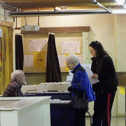 Polling places report steady turnout